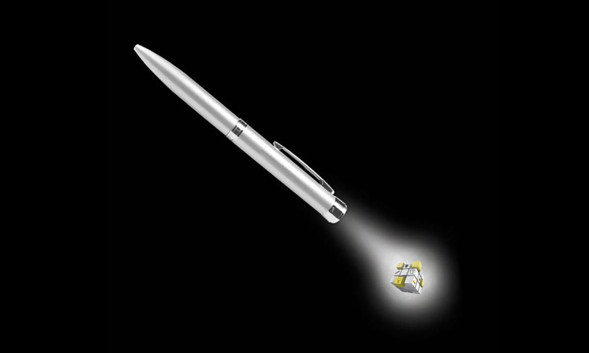 Stylo projecteur logo métal publicitaire