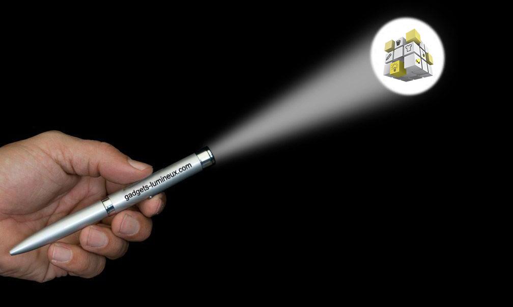 Stylo projecteur logo métal publiciaire